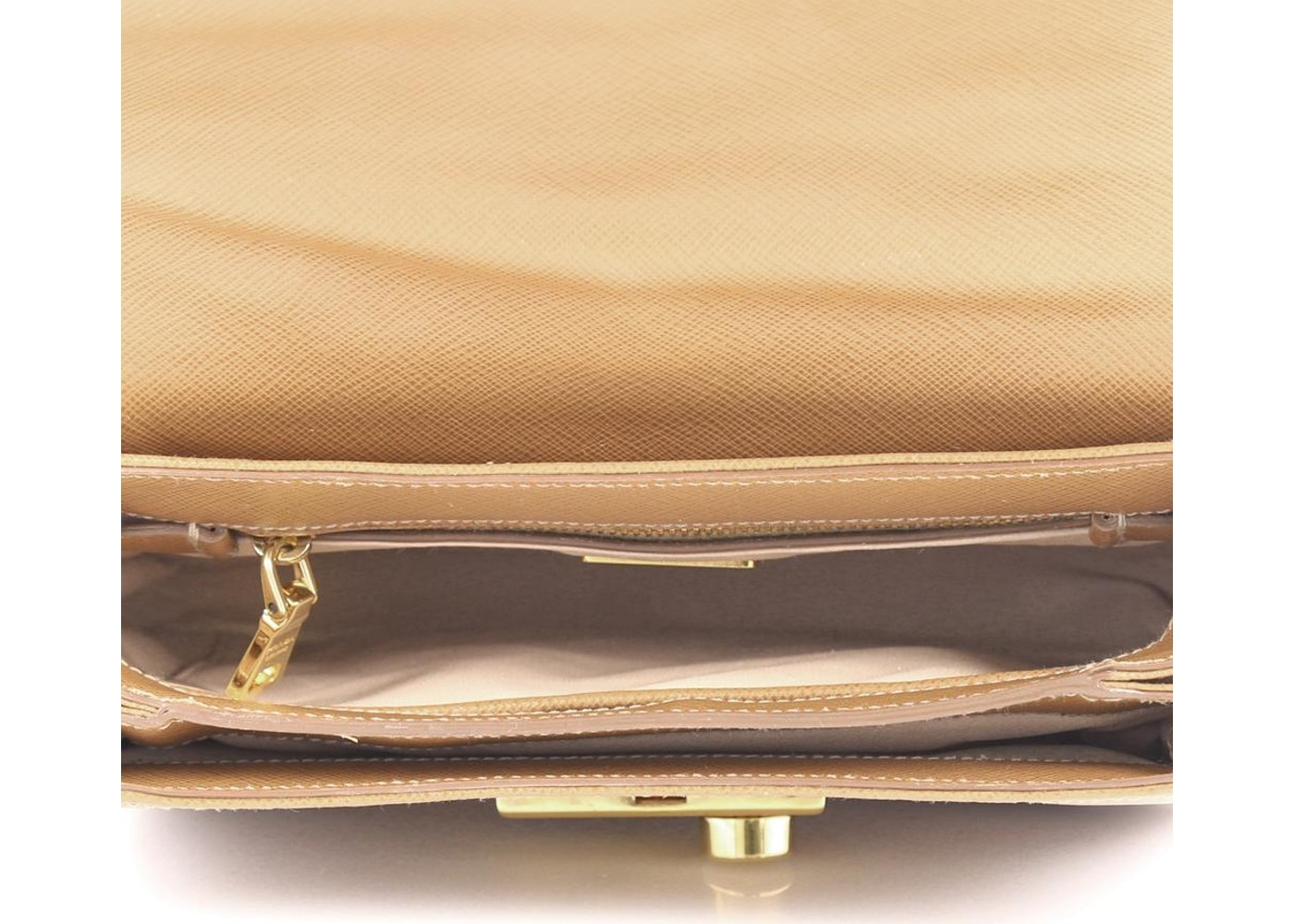 d826d8c66 Prada Sound Bag convertible Flap Vernice Saffiano Mini Light Brown