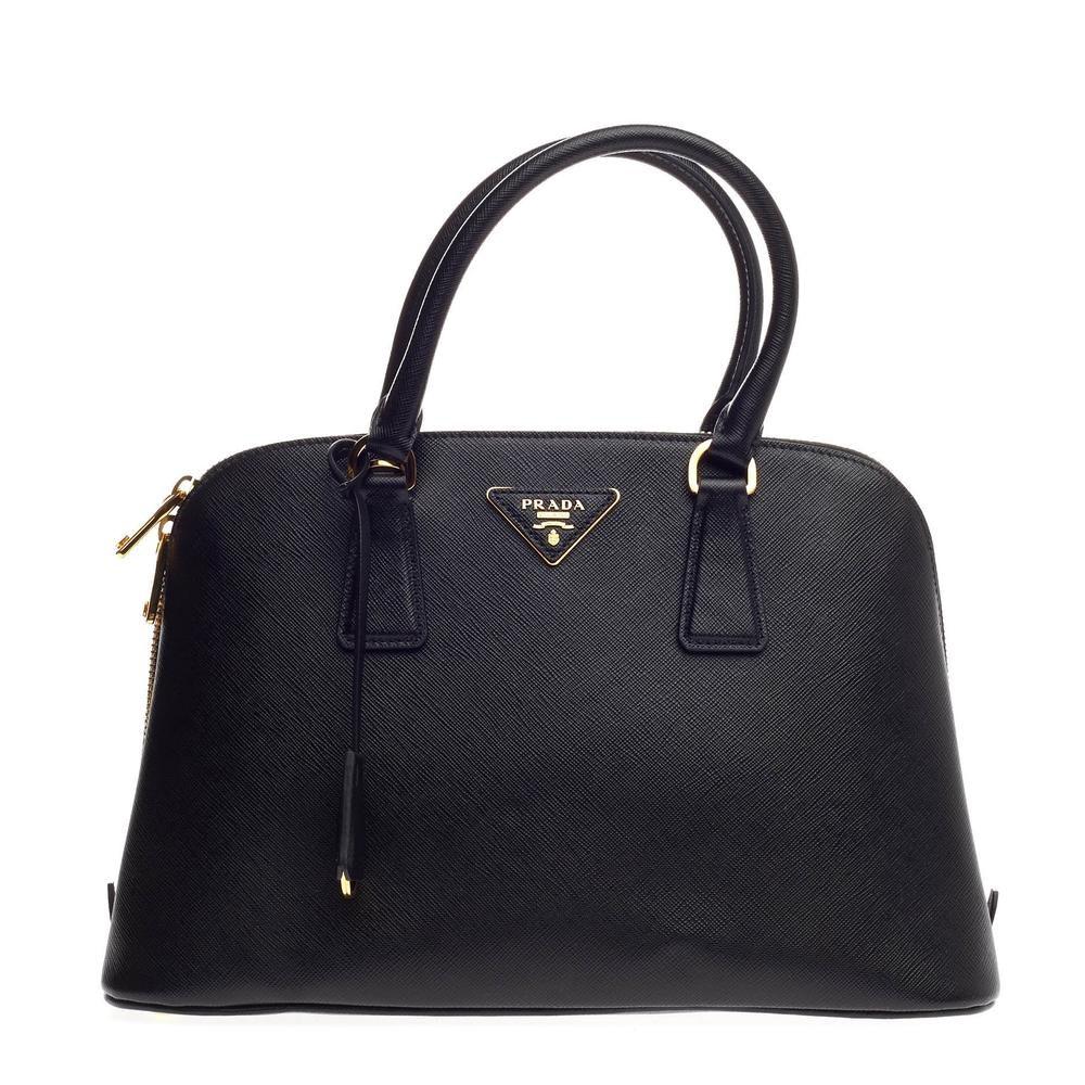 Prada Promenade Handle Bag Saffiano Medium Nero Black