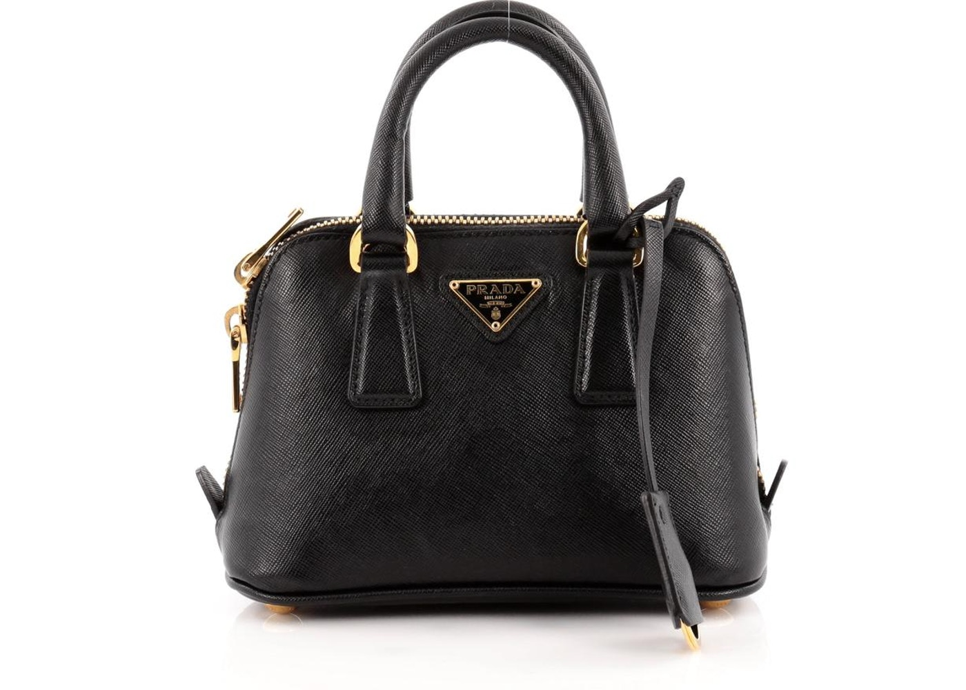 ec22eb70b906 Prada Promenade Handle Bag Saffiano Mini Classic Nero Black. Saffiano Mini  Classic Nero Black