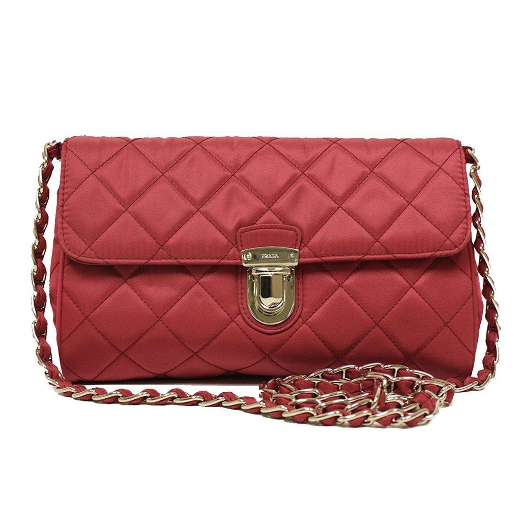 Prada Pattina Crossbody Chain Tessuto Ibisco Pink