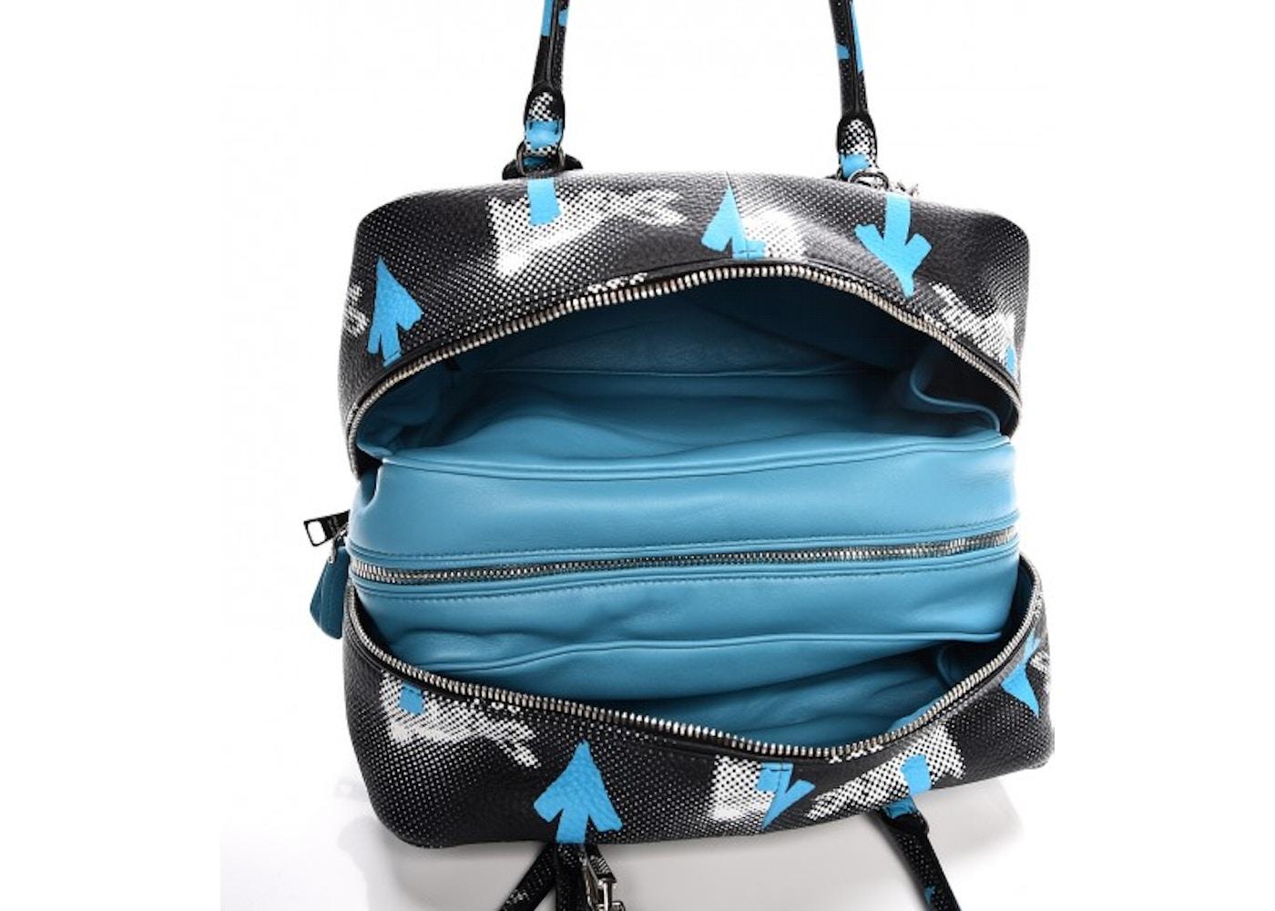 cdf732e809d1 Prada Saint Rabbit Inside Bag Shoulder Bag Vitello Daino Nero Multicolor