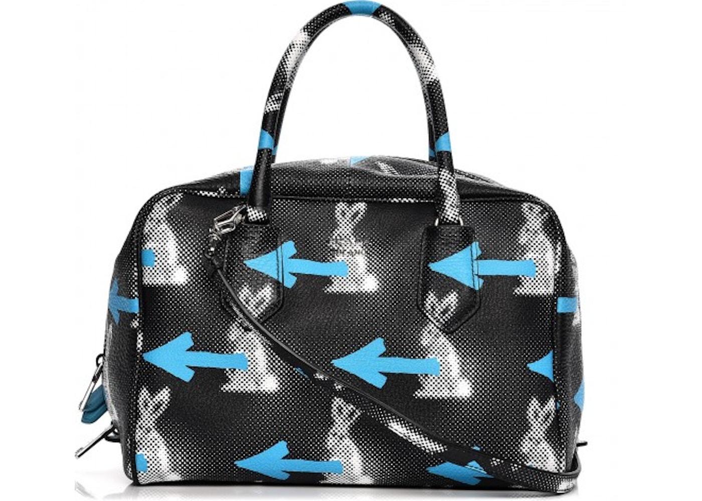 3a0f09a5426 Prada Saint Rabbit Inside Bag Shoulder Bag Vitello Daino Nero Multicolor.  Vitello Daino Nero Multicolor