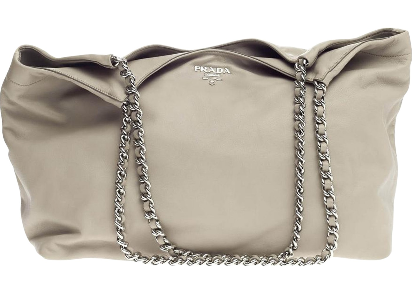 Prada Shoulder Bag Chain Tote Light Grey. Light Grey b46a73dbb65e7