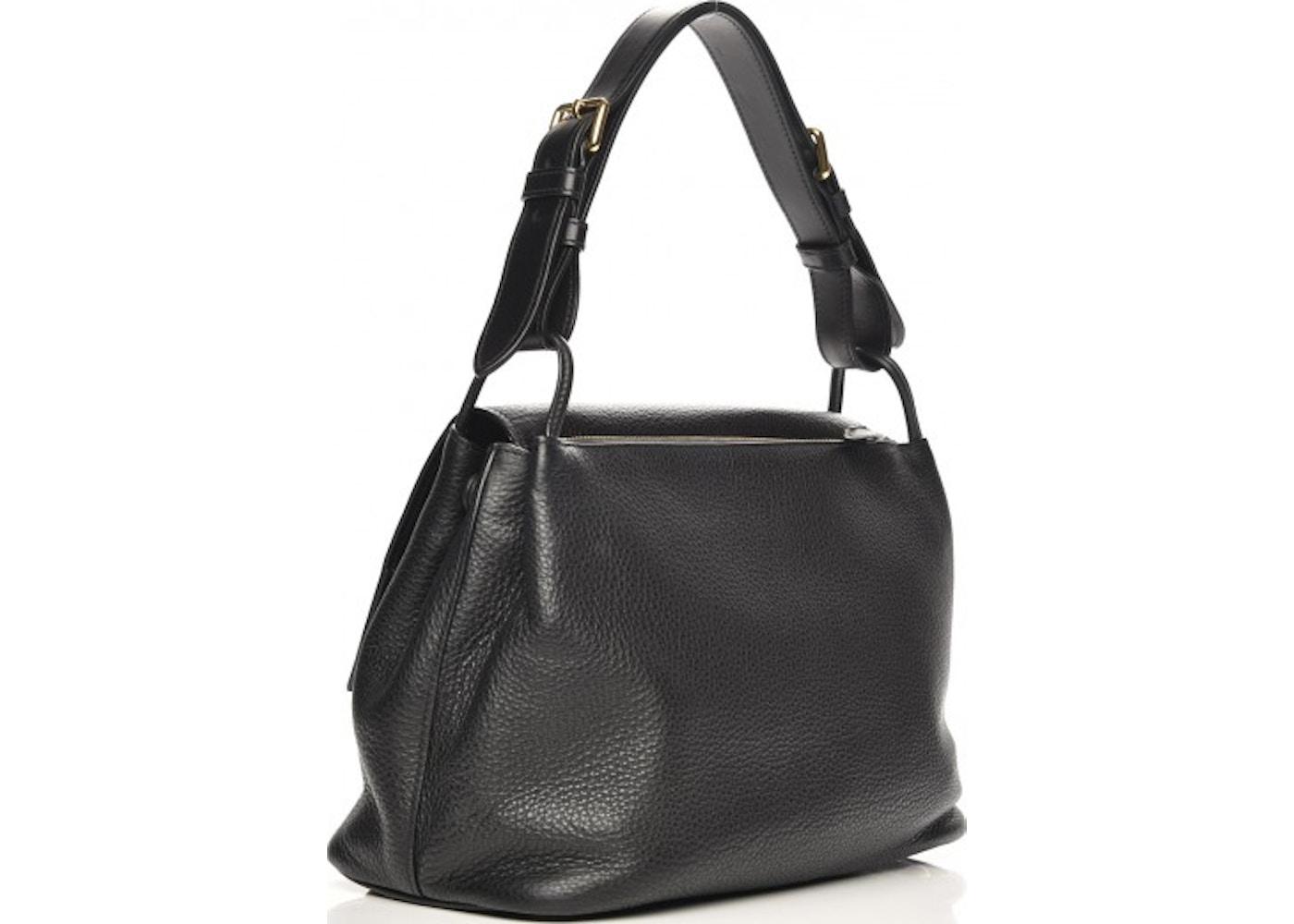 c77f933ede44 Prada Flap Shoulder Bag Vitello Daino Nero Black