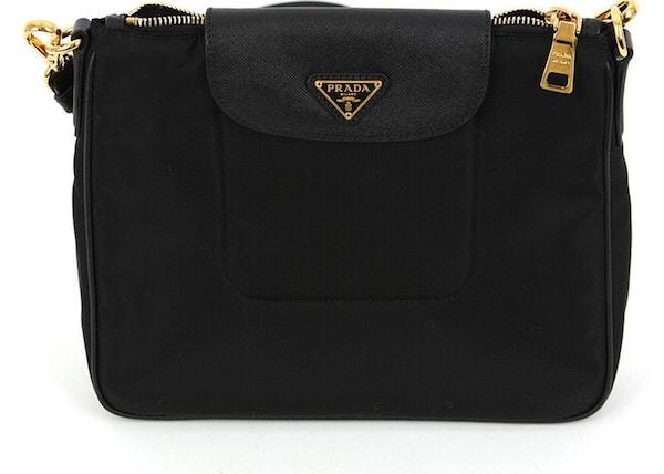b509fb0c8bbf Prada Tessuto Crossbody Bag Leather Black