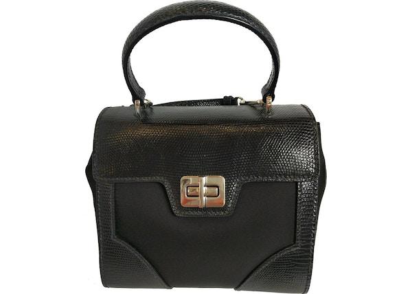 d66d2c6752fd Prada Tessuto Lucerto Handbag Reptile Black