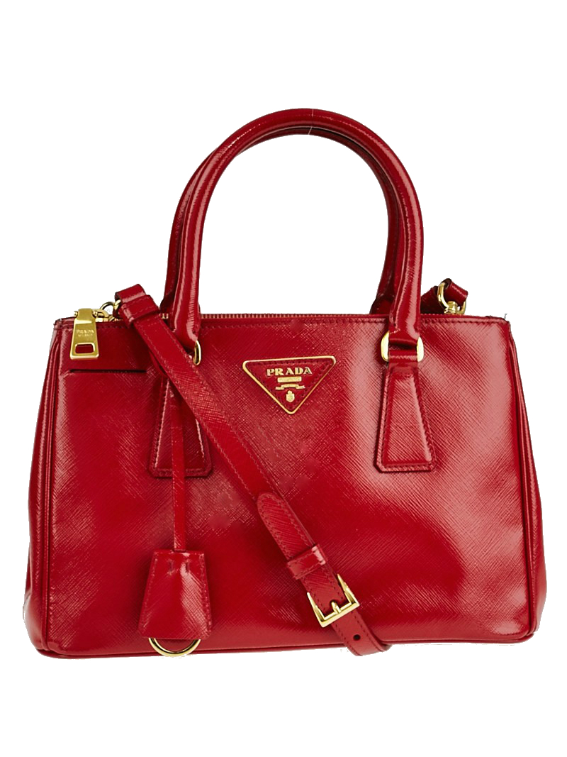 ... cuir double red bag a13a0 2a51a  inexpensive prada double zip lux  convertible tote vernice saffiano mini red 95619 f353c 040af7930ba68