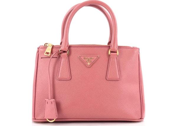 164e845bb2c Prada Double Zip Lux Tote Saffiano Mini Tamaris Pink