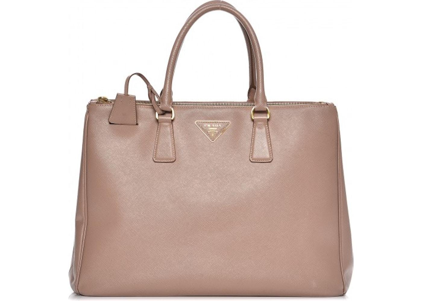 9460d72108bb Prada Galleria Double Zip Tote Saffiano Large Cammeo Beige Pink. Saffiano  Large Cammeo Beige Pink