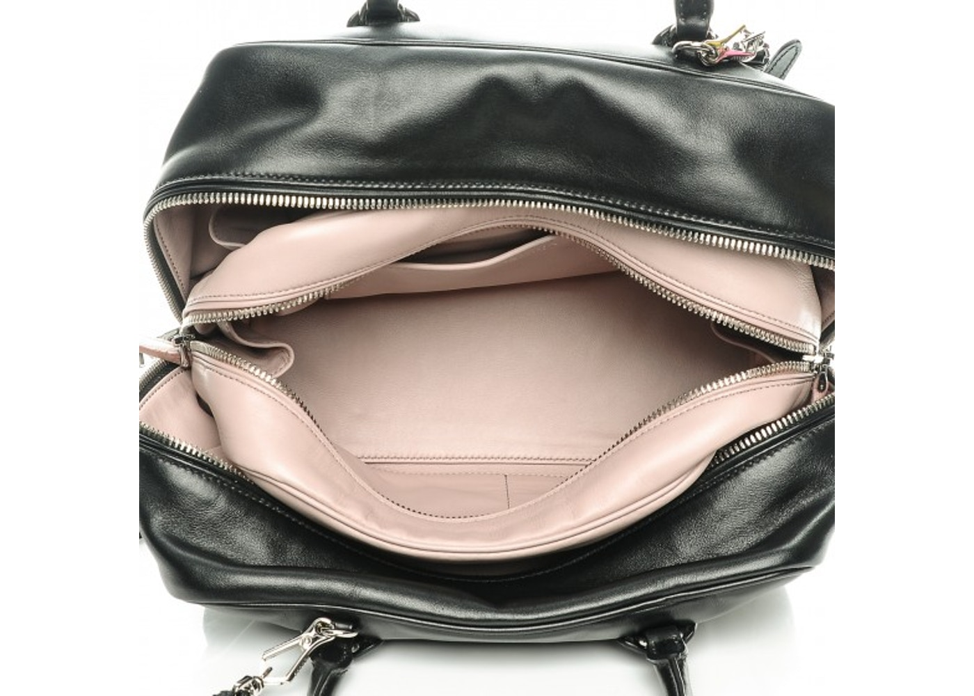 4f3cd03a47ca Prada Inside Tote Medium Nero Black Mughetto