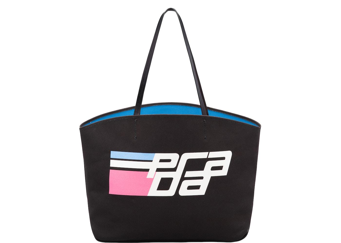 4e97609f5f Prada Tote Logo Canvas Printed Pouch Large Black/Multicolor. Printed Pouch Large  Black/Multicolor