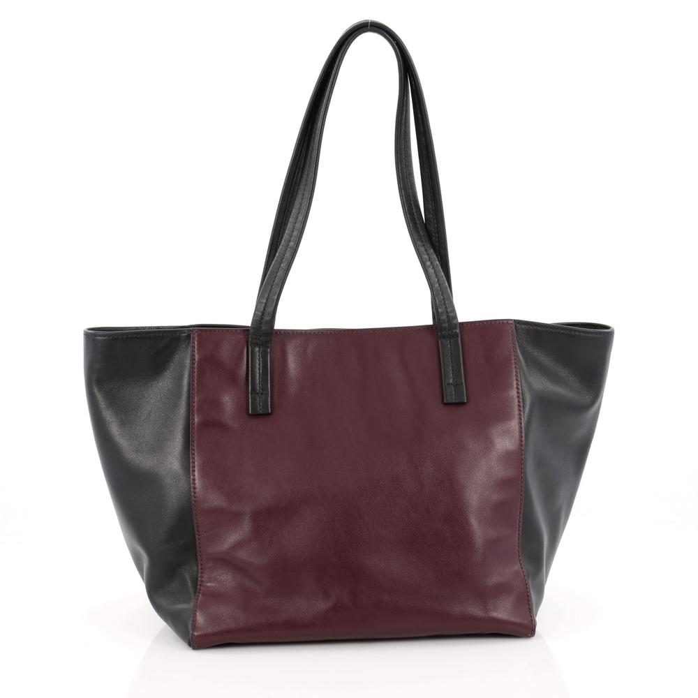 ... leather large tote bag da262 69e6a usa prada open tote wine red black  c0de5 31239 best price prada soft ... 142f34078f