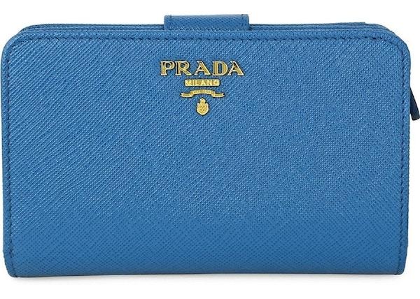07a05b8e6a1 Prada Vitello Move Wallet Zip Cobalt Blue