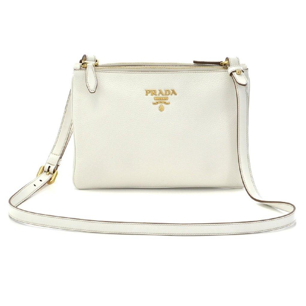 Prada Vitello Phenix Crossbody Bag White