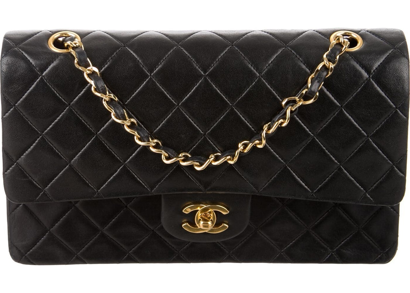 0a2aca83c7d3 Bid. $1 Weekend Chanel Classic Double Flap Quilted Medium Black