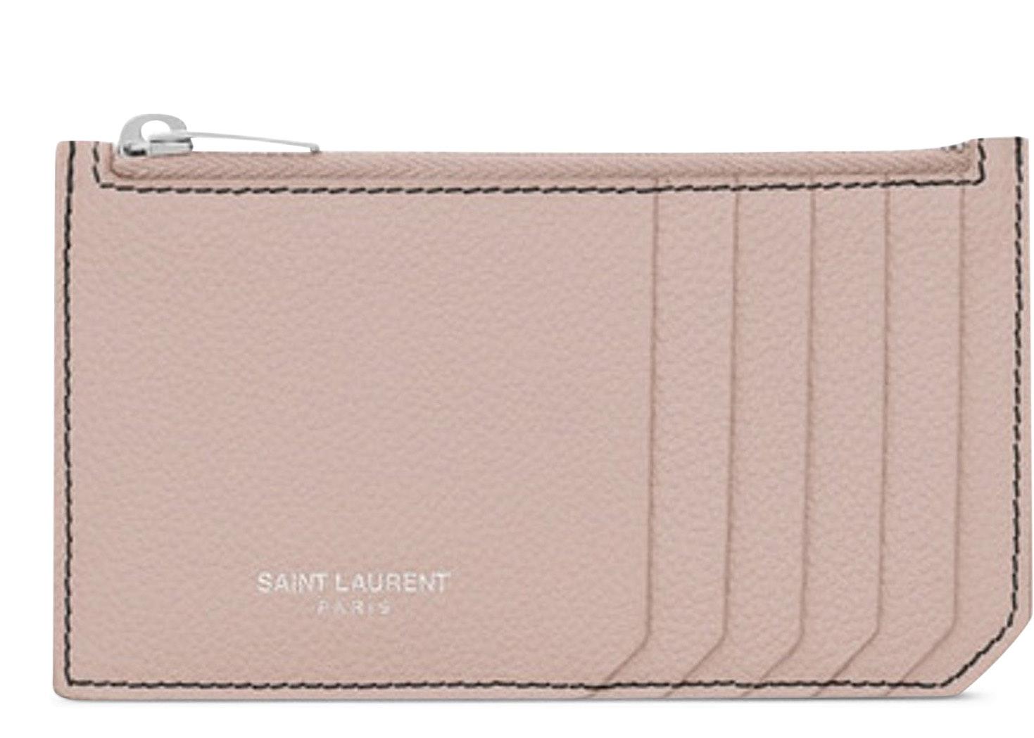 Saint Laurent 5 Fragments Pouch Card Case Pink