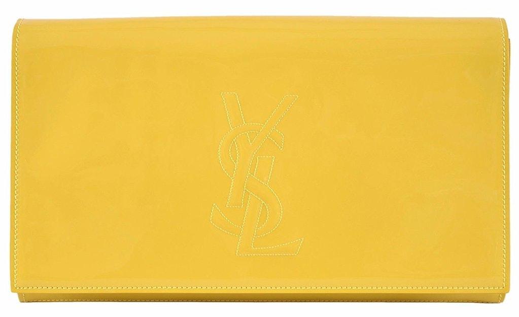 Saint Laurent Belle De Jour Clutch Yellow