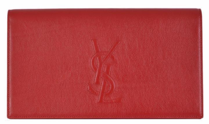 Saint Laurent Belle Du Jour Clutch Large Red