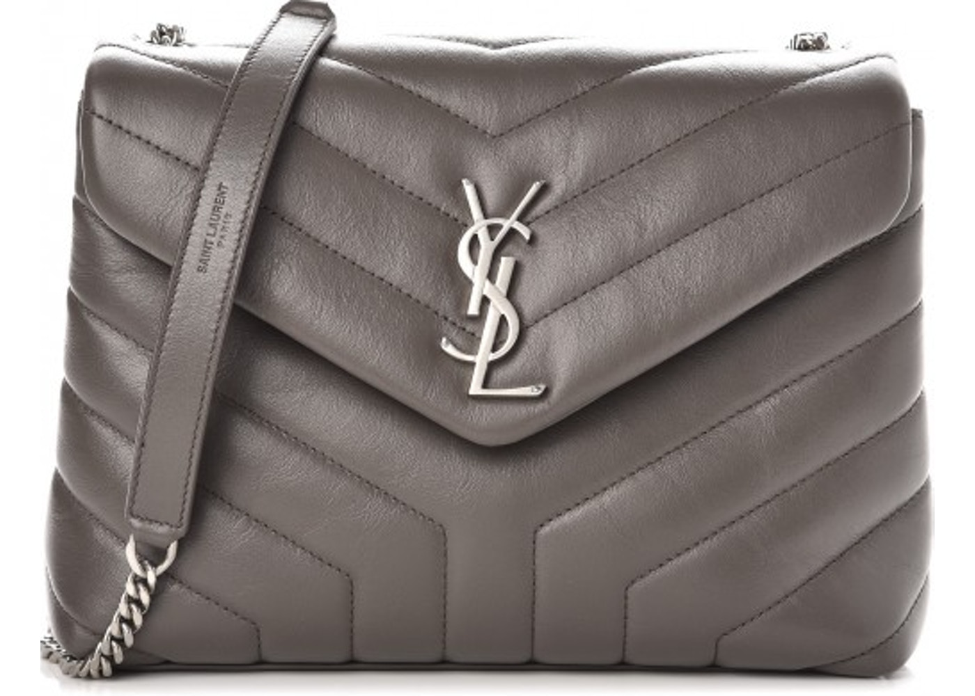 dba7b7bb0110c Saint Laurent Chain Bag LouLou Monogram Quilted Chevron YSL ...
