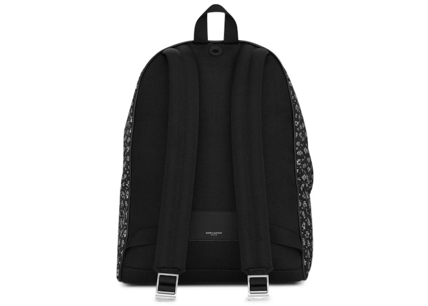 be8e1f1c4d Saint Laurent City Canvas Backpack Robot Print Black