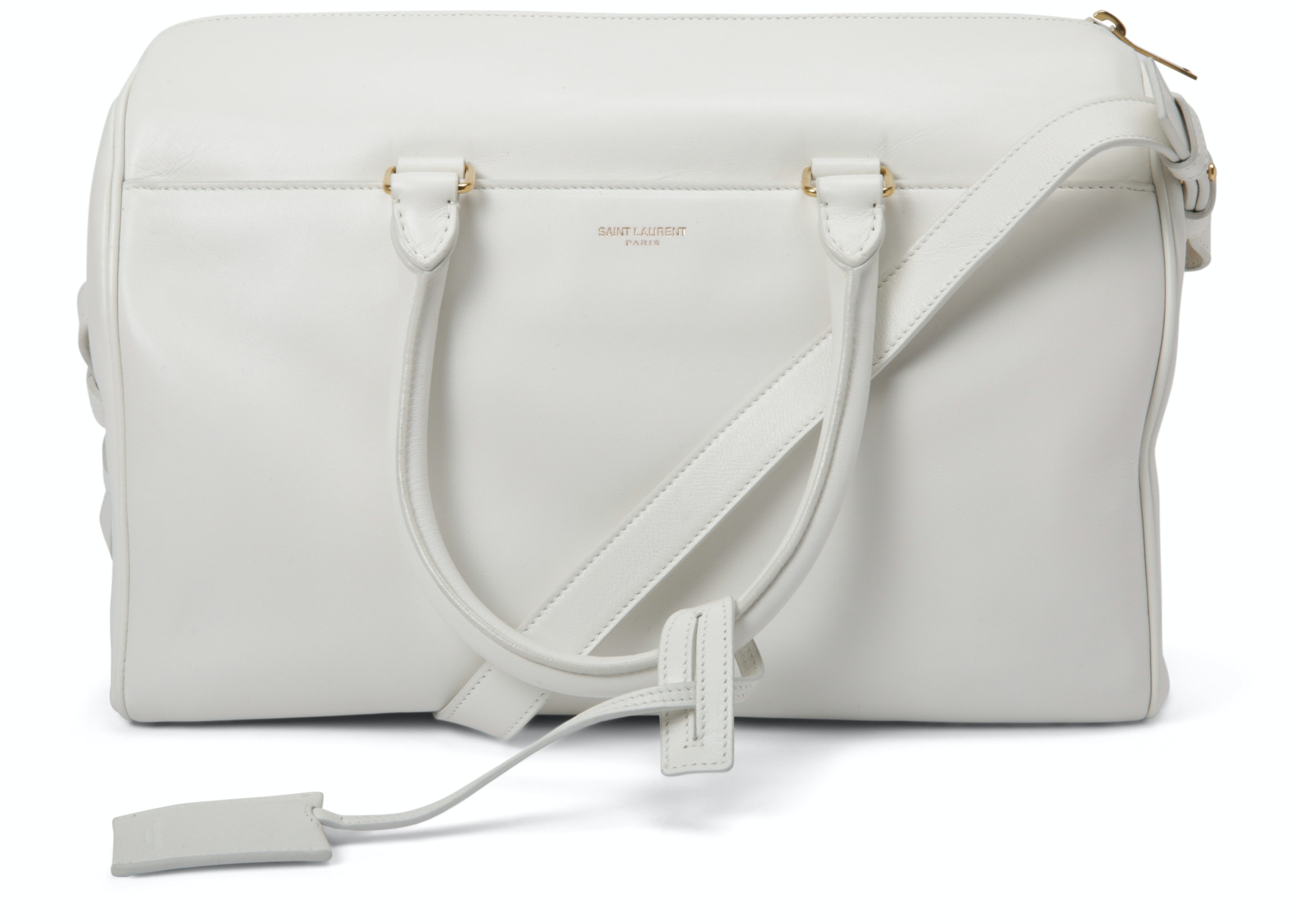 Saint Laurent Classic 6 Hour Duffle Bag White