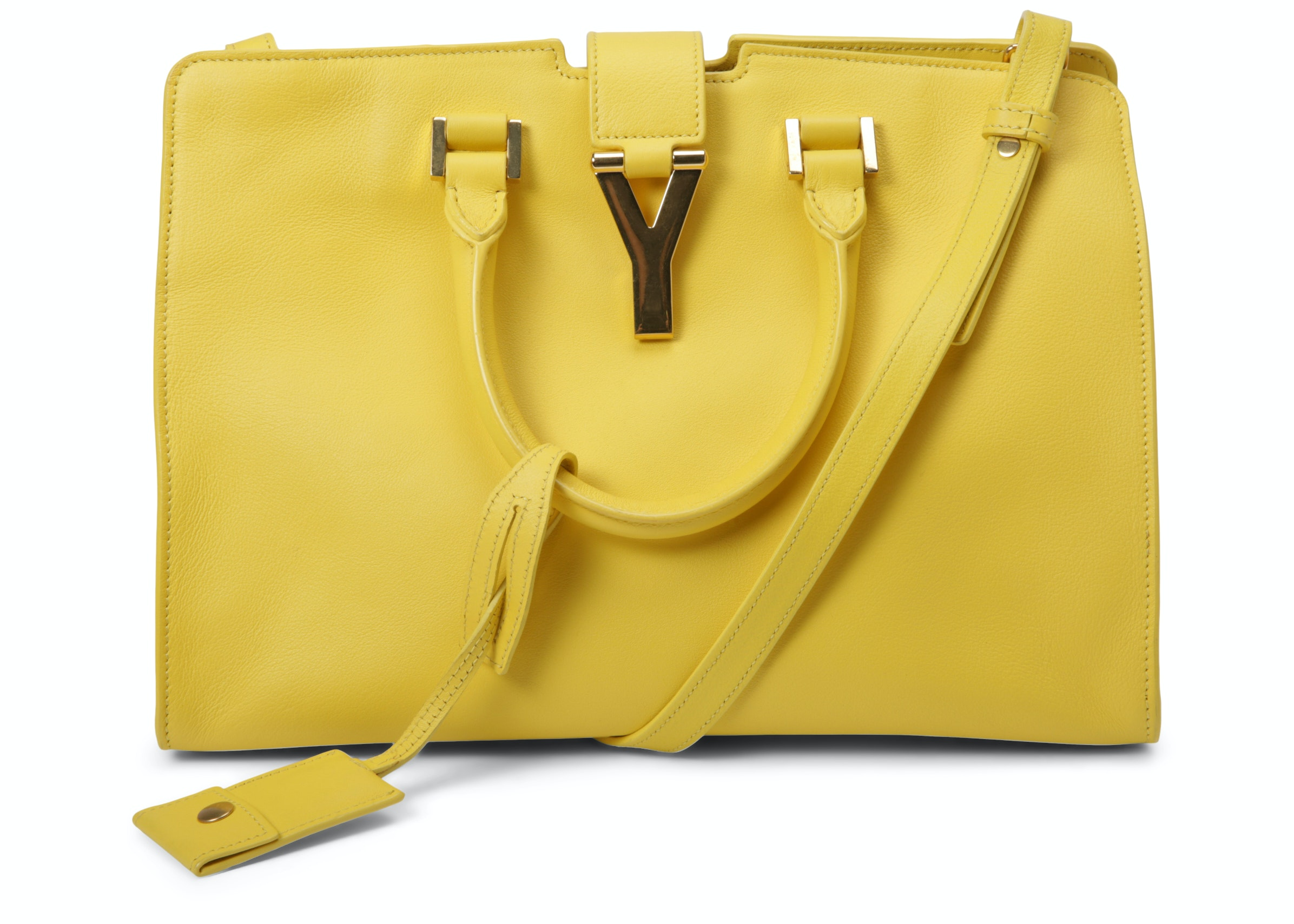 Saint Laurent Classic Cabas Y Top Handle Small Yellow