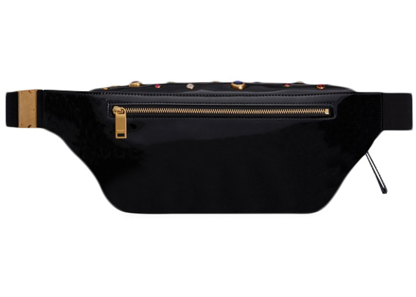 14c9ed8cb0 Saint Laurent Classic Monogram Belt Bag Crystals Black Multicolor