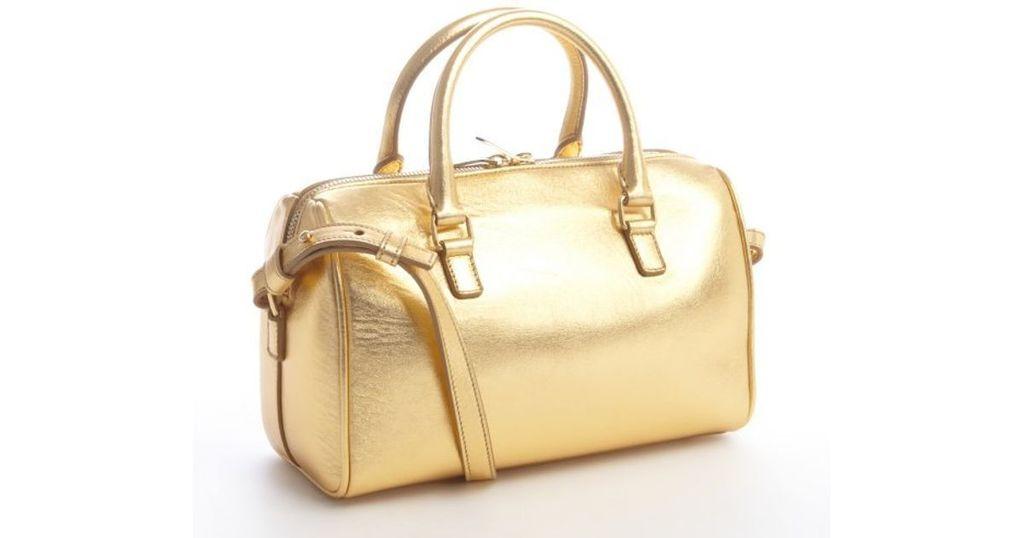 Shoulder Metallic Classic Gold Saint Laurent Bag Mini Duffle Sac rdBWxeCo