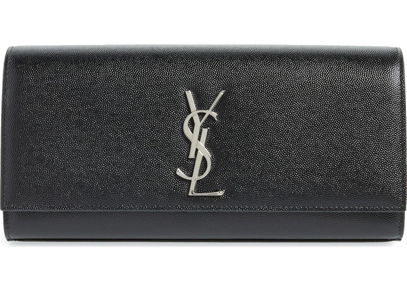 c38c3a196b13 Saint Laurent Clutch Kate YSL Silver-Tone Black