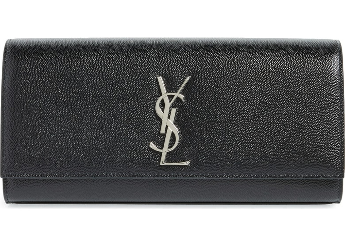 for sale best selection of 2019 best wholesaler Saint Laurent Clutch Kate YSL Silver-Tone Black