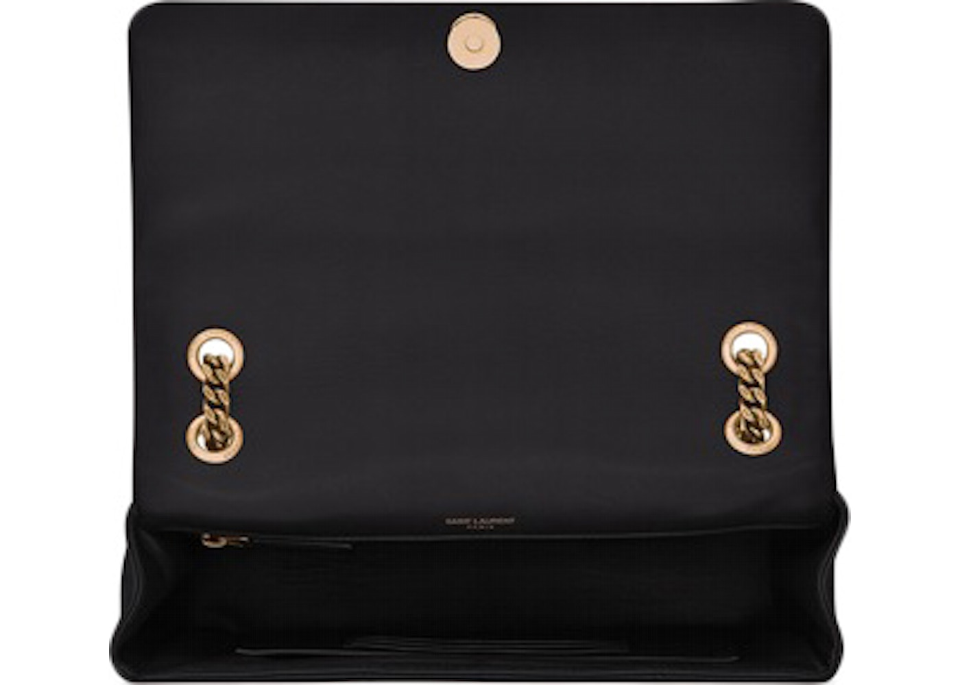 Saint Laurent Jamie Bag Carre Rive Gauche Lambskin Gold-tone Medium Black 2fcff92adf94c