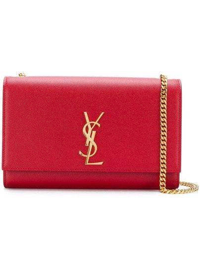 Saint Laurent Kate Bag Calfskin Gold-tone Medium Red