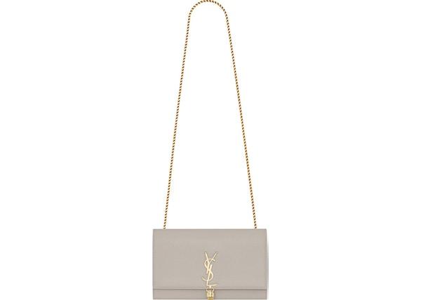 770d4043be5 Saint Laurent Kate Bag Grain De Poudre Embossed Leather Gold-tone Medium  Ivory