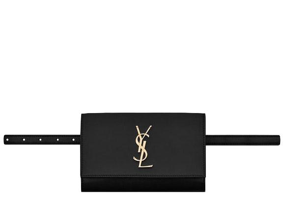Saint Laurent Kate Belt Bag Smooth Leather Black