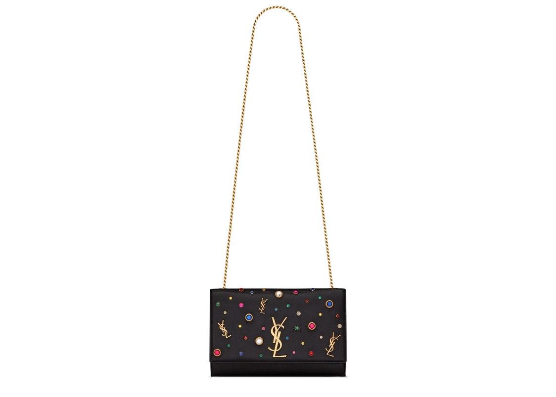 Saint Laurent Kate Crossbody Multicolor Charms Leather Medium Black