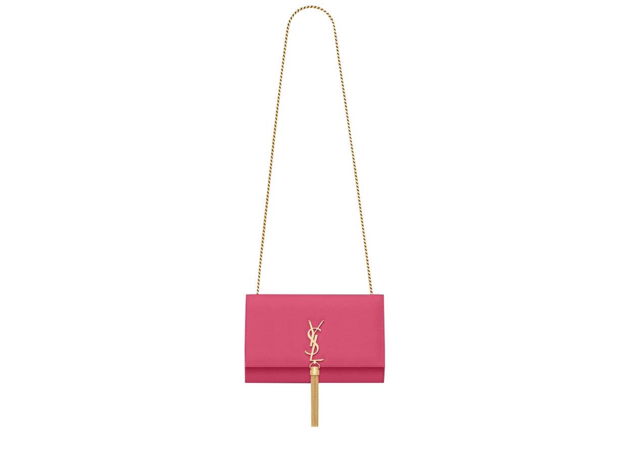 Saint Laurent Kate Crossbody Tassel Smooth Leather Medium Pink