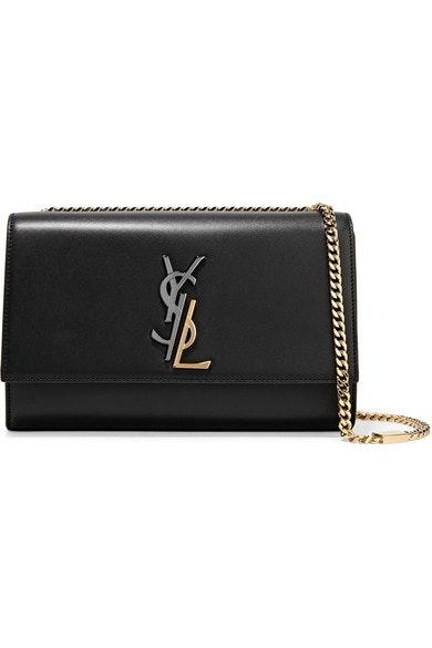 Saint Laurent Kate Gold/Silver YSL Medium Black
