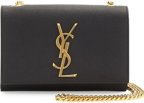4f23ab6f83e Saint Laurent Kate Crossbody YSL Pebbled Black
