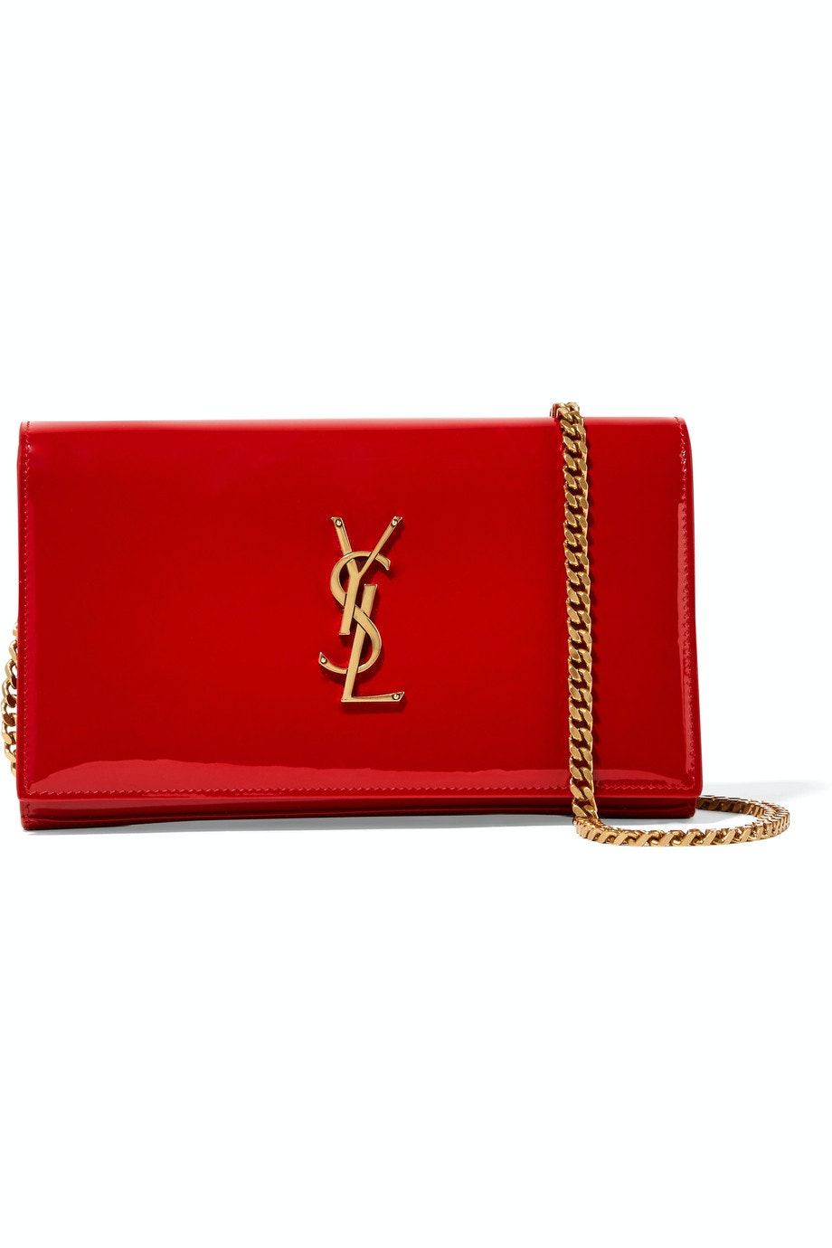 Saint Laurent Kate Patent Leather Small Red