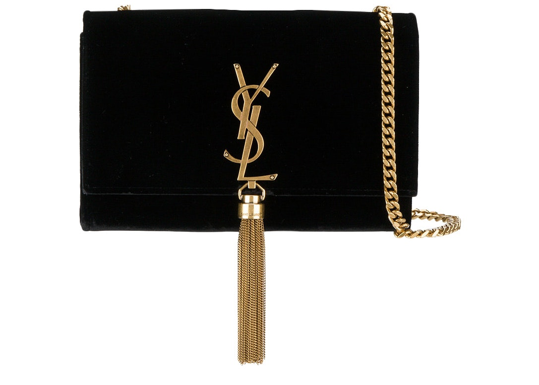 Saint Laurent Kate Tassel Wallet on Chain Tassel Black