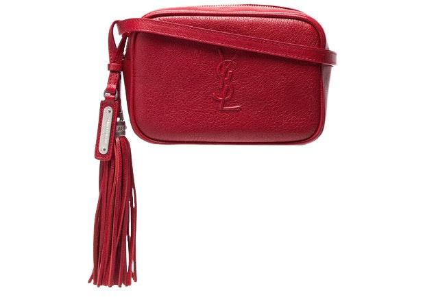 Saint Laurent Lou Monogram Waist Bag Red