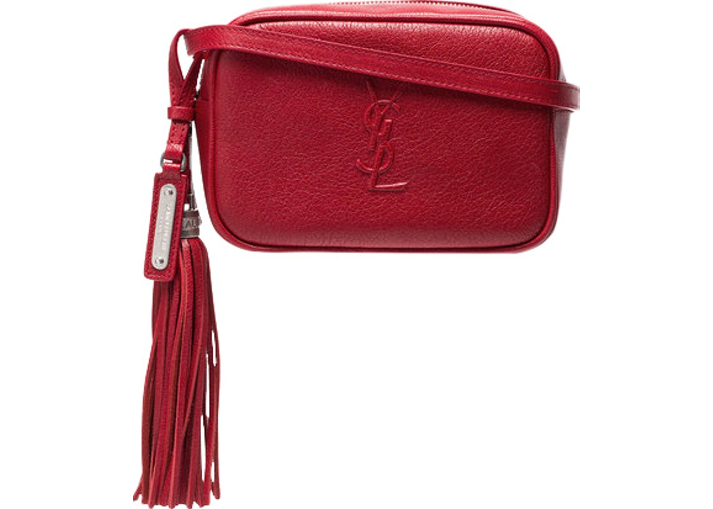 bf0413bb18a Sell. or Ask. View All Bids. Saint Laurent Lou Monogram Waist Bag Red