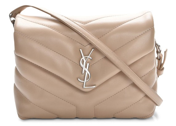 Saint Laurent LouLou Crossbody Matelasse Toy Beige