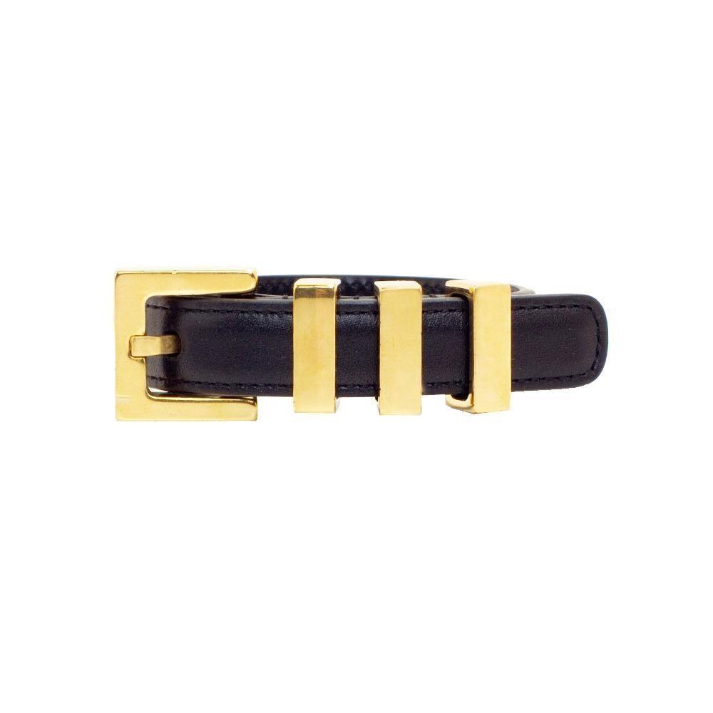 Saint Laurent Monet Bracelet Buckle Closure Black