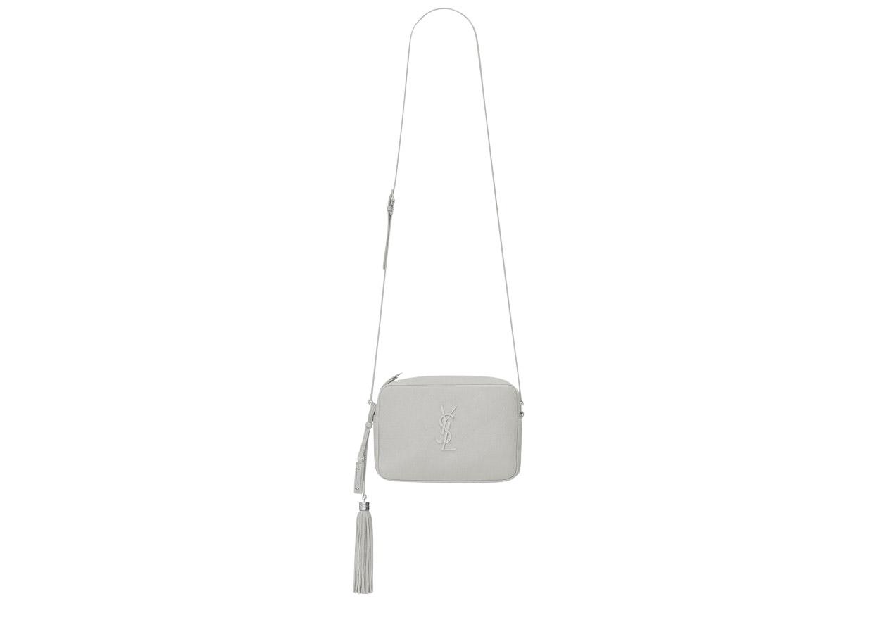 Saint Laurent Monogram Lou Camera Bag Chalk White
