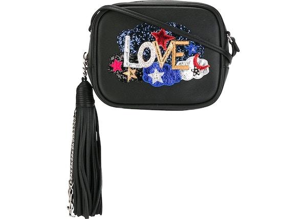 6461a59c8e9 Saint Laurent Monogram Love Blogger Glitter Black/Multicolor