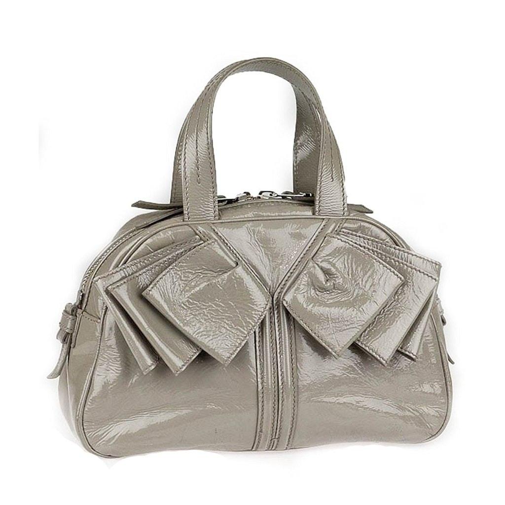 Saint Laurent Obi Bow Handbag Gray