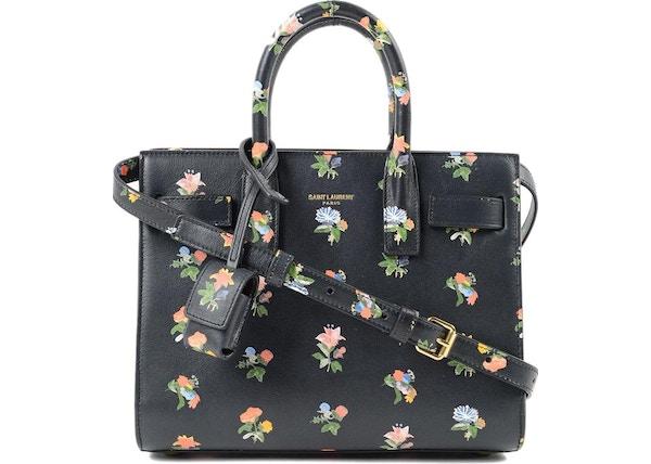 0c8119c1187c Saint Laurent Sac De Jour Top Handle Floral Nano Black Multicolor