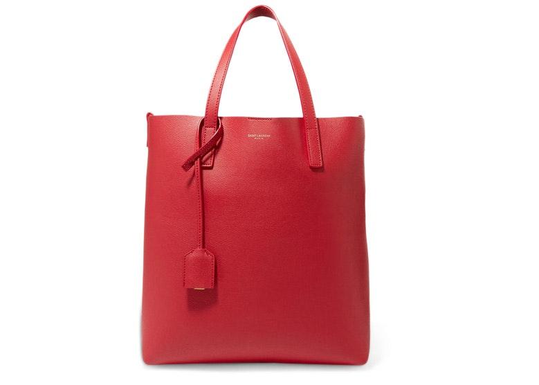 Saint Laurent Shopper Tote Red