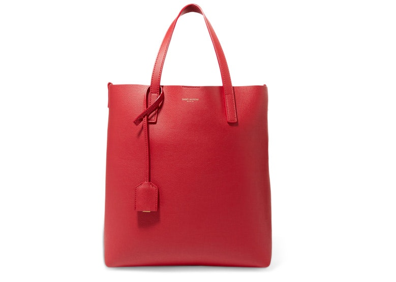 Saint Laurent Shopper Tote Red